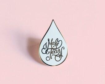 Male Tears cloisonné enamel pin