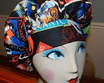 Halloween Horror Movies  Banded Bouffant Surgical Cap