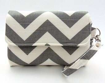 Custom Wallet • Cell Phone Wristlet Wallet • DOUBLE ZIP WRISTLET Wallet • Detachable Strap • iPhone • Samsung • Select Your Fabric