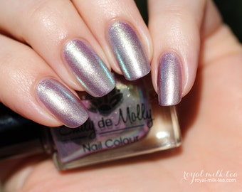 "Nail polish - ""Not This Day""  gold to purple duochrome foil"