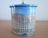Vintage Saks Fifth Avenue Cookie Tin -  Collectable - Tin Canister - Department Store Tin Box  - Kitchen Decor - Sewing Room storage
