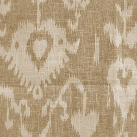 Bristow Sand Tan Ikat Home Decor Print Multipurpose Fabric By