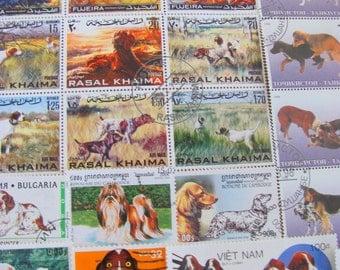 Best In Show 50 Premium Vintage Dogs Postage Stamps Dog K Nine Mutt Puppy Puppies Mammals Animals Pets Scrapbooking Animal Rights Woof