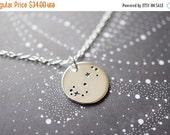 14OFFSALE Necklace, Silver Necklace, Star Necklace, Zodiac Necklace, Constellation Necklace, Scorpio, No. NSCC042