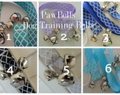 Dog Training Bells, Paw Bells, Dog housebreaking Potty Trainer, Instructions included