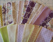 Purples and Mixed Fabric Grab Bag,  All New Fabrics, 40 pieces, Bag 113F