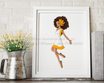 Dana - Fashion illustration print.