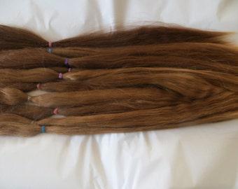 Suri Alpaca Doll Hair / Natural /BJD / MSD / Blythe /Reroot / Wig (A-1)
