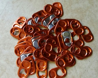 50 Orange Monster Tabs Energy Drink Aluminum Pull Tabs Pop Can Soda Tops Colored Colors