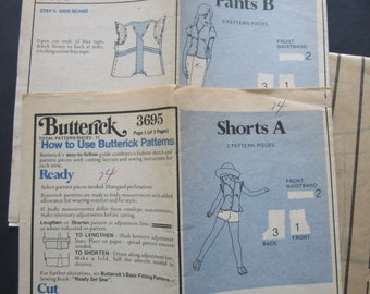 UNCUT Butterick Pattern 3695 Girls Size 14 Shorts & Pants