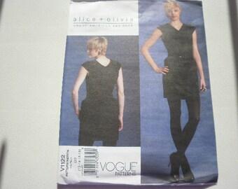 Pattern Women Dress Sizes 12 to 18 Vogue 1122