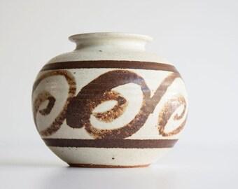 Vintage Modern Stoneware Pottery Planter