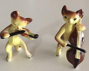 Mid Century China Musical Cat PAIR With BOX By Gatormom13