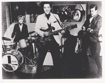 SPINOUT Elvis Presley Band Photo, Vintage  B&W Movie Promo 8x10,  Deborah Walley Jack Mullaney