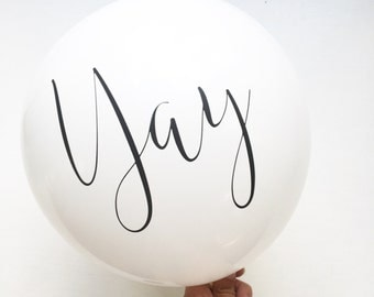 Yay Balloons l Balloons (set of 6) | Birthday | Photo Props | Wedding | Engagement | Anniversary | Graduation | Retirement | Promotion