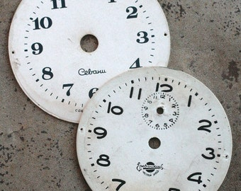 Vintage Alarm Clock Faces -- cardboard -- D18