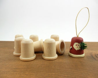 Thimble Wood Unfinished 20 Pieces