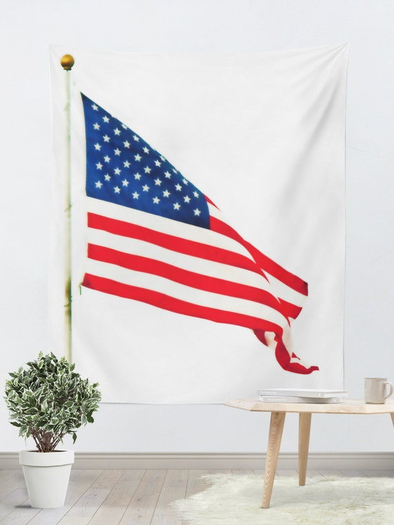 patriotic tapestry usa wall hanging american flag photo. Black Bedroom Furniture Sets. Home Design Ideas