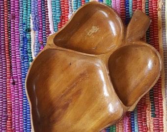 Vintage Wood Leaf Tray/Platter