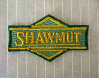 """Vintage 3.25"""" SEW ON Shawmut Line Patch Pittsburg Shawmut Northern Railroad Patch Train Shirt Hat Jacket Patch Railroad Collectible Applique"""