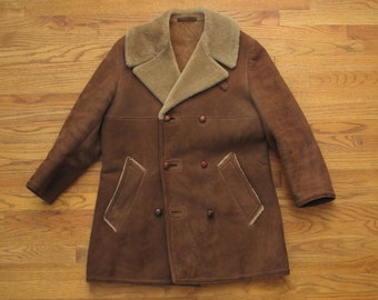 mens vintage Abercrombie & Fitch shearling jacket