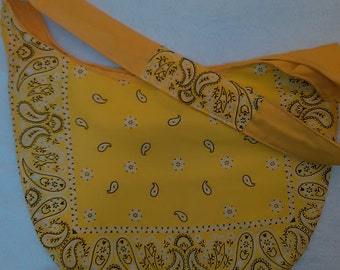 Sunshine Yellow Bandana Purse