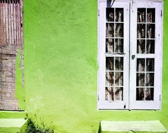 Apple Green House, fine art photography, travel photography, architecture, urban, street, front door, large wall art