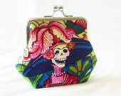 CUSTOM ORDER FOR (Amilita) Frida Coin purse. cotton fabric.