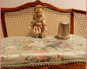 Lily, tiny porcelain doll for your miniature doll.