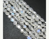 VALENTINE SALE 55% 14 Inches, Natural Fine Quality Blue Flash White Moonstone Smooth Polished Nuggets Strand, 11-15mm, SKU6978/F