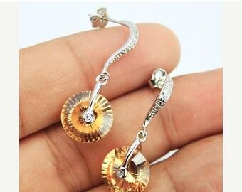VALENTINE SALE 55% Zircon Sterling Silver Earrings 1586ER