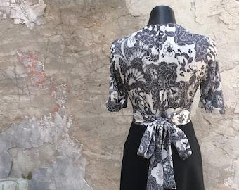 Vintage Soft Jersey Floral Midi Dress