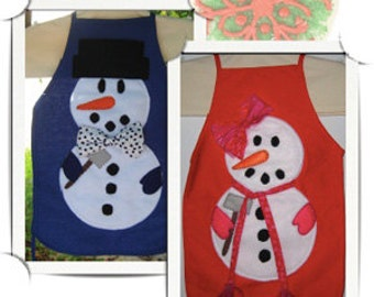Kids Apron Little Snowman instructions/tutorial