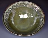 Green Ceramic Bowl Pasta Salad Bowl Handmade Pottery B