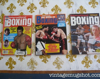 3 International Boxing Magazines With Muhammad Ali Covers Seventies  Lot 2