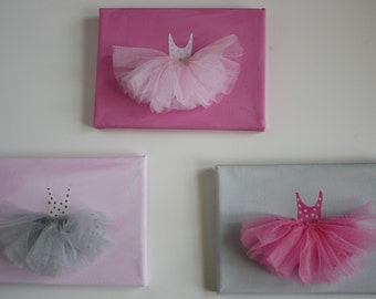 artwork ballerina paintings with tulle tutus