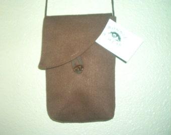 Bonnie B-Wear chocolate brown Hemp purse or phone purse 6 x 8, small