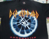 Vintage 1992 Def Leppard Adrenalize 7 day weekend heavy metal Joe Elliot Concert Tour T shirt XL