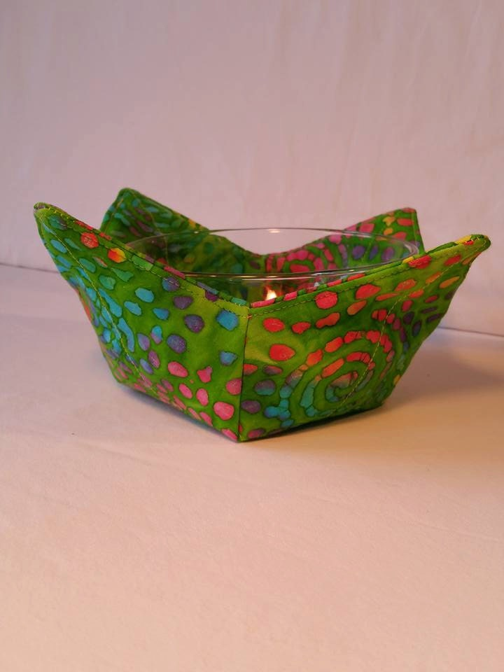 Microwave Bowl Cozy Quilted Pot Holder Trivet By