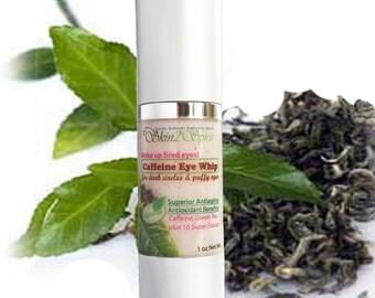 CAFFEINE Eye Cream - For Puffy Eyes & Dark Circles -  All Natural - Organic - NO Synthetics