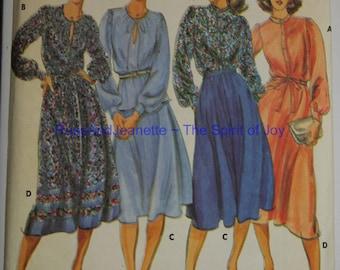 Size 14 Butterick 5665 Blouse Top Shirt Skirt 2 Piece Dress Jones New York Rena Rowen Vintage 1980s UNCUT Misses Womens Sew Sewing Pattern