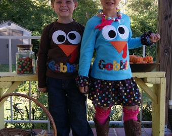 Thanksgiving Shirt / Infant, Toddler and Youth Gobble Shirt / Funny Turkey Shirt / Shop Special