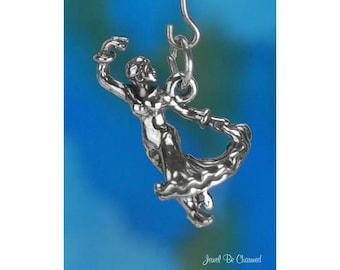 Sterling Silver Flamenco Dancer Charm Spanish Dance Spain 3D Solid 925