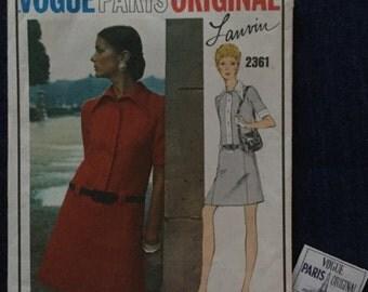 Vintage Vogue pattern  Paris original 2361 by Lanvin