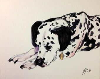 CUSTOM Dog Portraits - an original watercolor painting by Jodi J. Callahan
