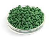 10g Opaque Frosted Pine Green Round TOHO Glass Seed Beads, Matte Japanese Glass Beads, Size 8/0 (0012)