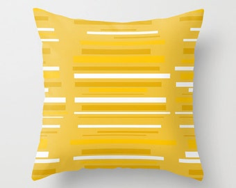 Decorative  Pillow Cover, Modern Pillow Cover, Yellow Pillow Cover, MidCentury Modern Pillow Cover, Cool Pillow Cover, Modern Pillow Cover