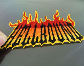 Hell Bound Patches - Iron on Patches or Sewing on Patch Fire Hellbound Patches Embroidered Patch Embellishment