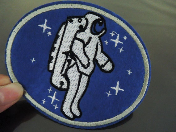 Astronaut Patches Iron on Patches or Sewing on by Heasundries
