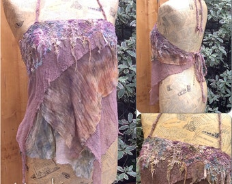 Psy Fairy, Woodland Pixie, Fairy Lace Halter Pixie Top